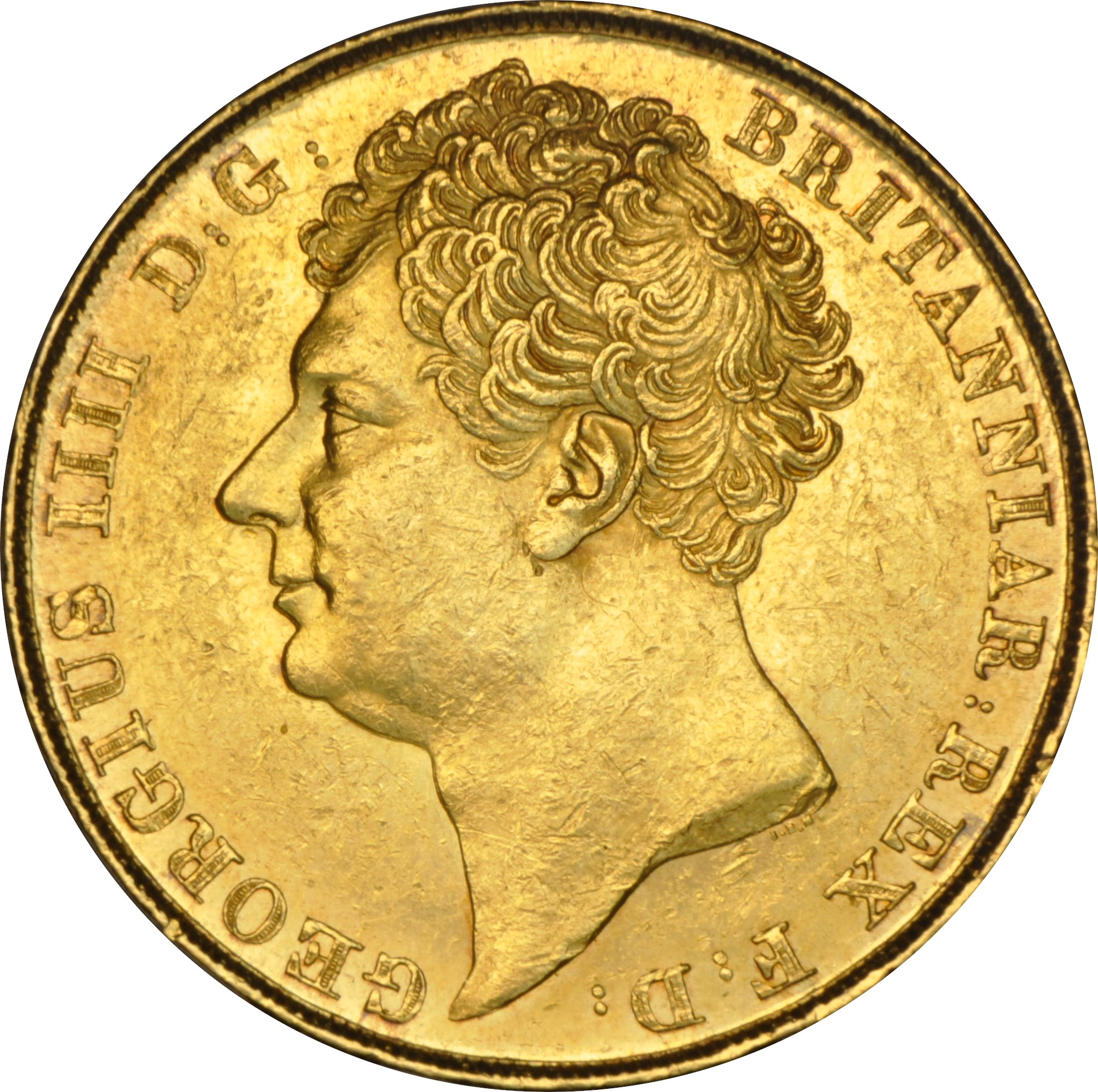 1823 George IV Double Sovereign £2 Gold Coin NGC AU58