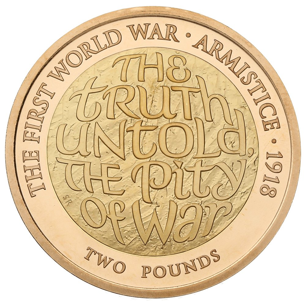 2018 £2 Two Pound Proof Gold Coin: First World War Armistice