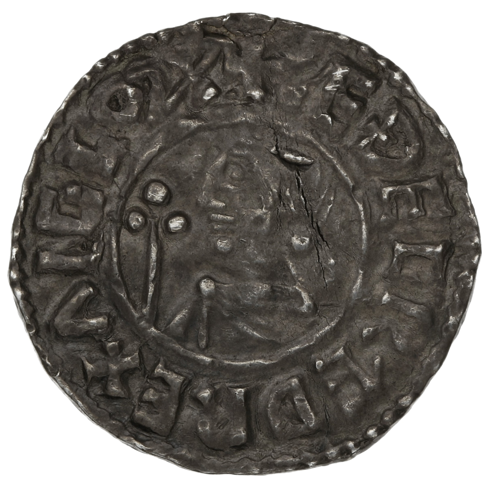 978-1016 Aethelred II Hammered Silver Penny Crux Type - Edsige Winchester