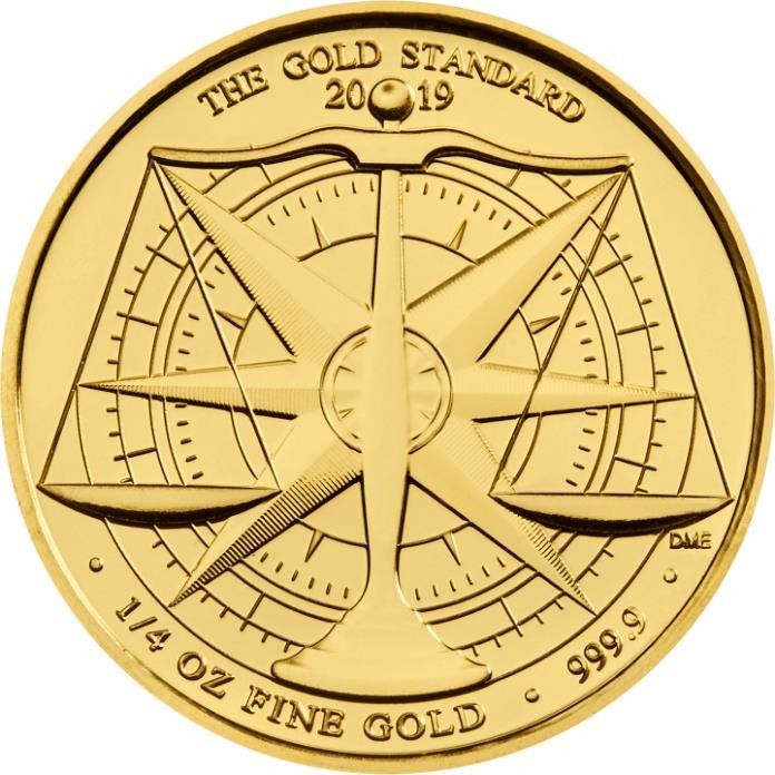 2019 Royal Mint Gold Standard Quarter Ounce £25 coin