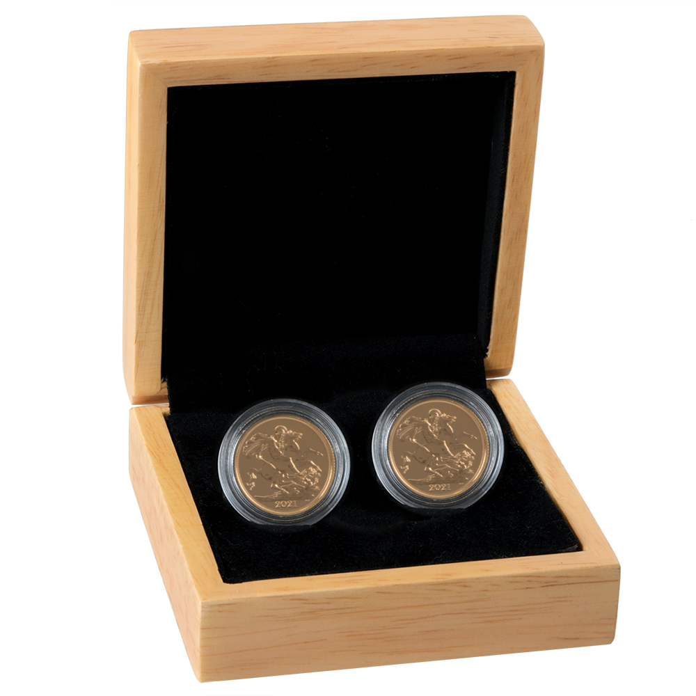 Two 2021 Sovereign Gold Coins Gift Boxed