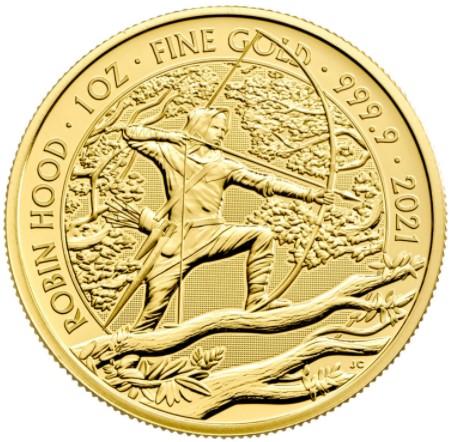 2021 Robin Hood Myths & Legends 1oz Gold Coin