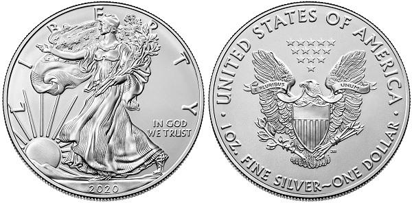 US Mint 2020 Silver Eagle