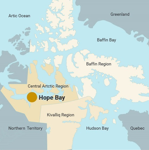 Canada Gold Mining Map