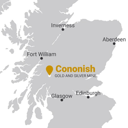 Cononish gold mine map
