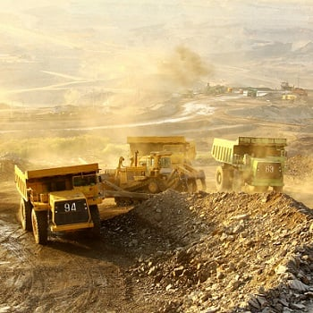 Large-scale gold mining