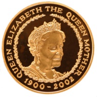 Royal Mint Queen Mother Five Pound Gold Coin
