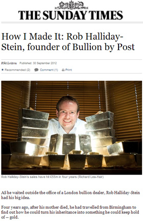 How I Made It: Rob Halliday-Stein, Founder of BullionByPost