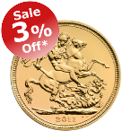 3% Off Half Sovereigns