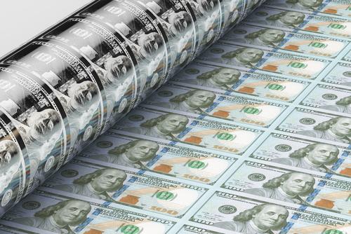 us dollars printing