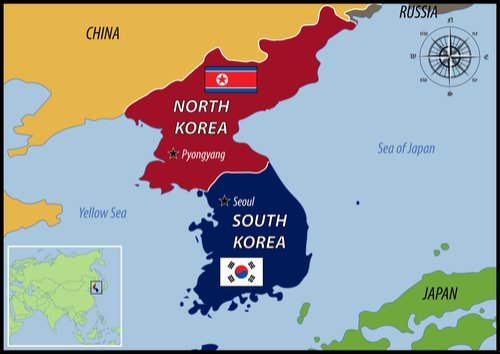 Korea region map