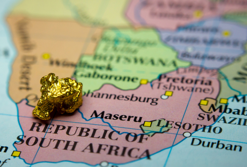 S.Africa gold map