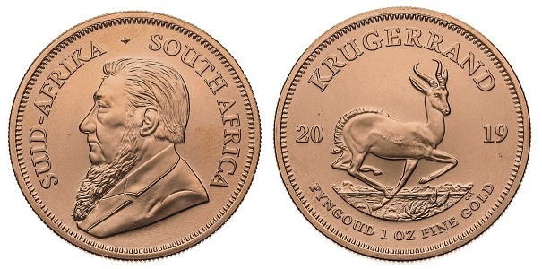 The Krugerrand coin - part of South Africa's introduction of decimal currency.