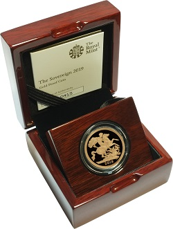 2019 proof gold sovereign coin