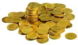 gold sovereign coin pile
