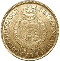 1806 George III Half Guinea coin reverse