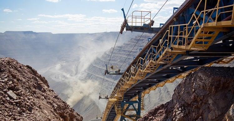 An open pit silver mine