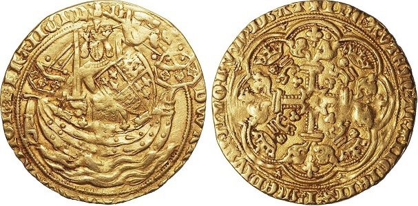 Gold Nobles - the first British gold coin.