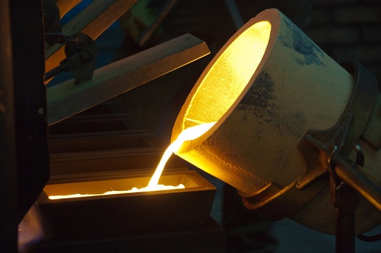 Pouring liquid gold.