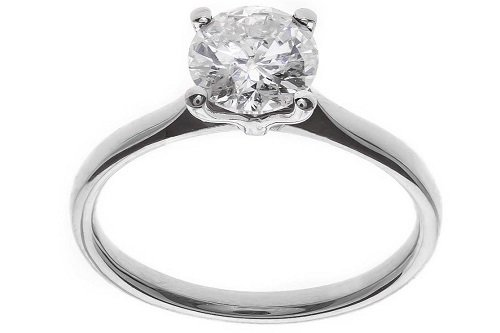 One use of platinum is as jewellery, shown here as platinum ring.