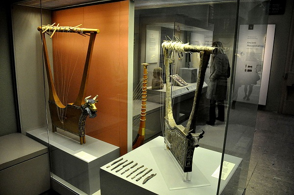 An ancient Sumerian silver lyre, one of the oldest silver artefacts known to man.