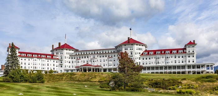 Mount Washington Hotel, where the Bretton Woods agreement was made, confirming a gold standard for the world.