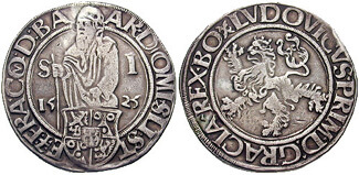 Silver Thaler coin, one of the original silver standard coins.