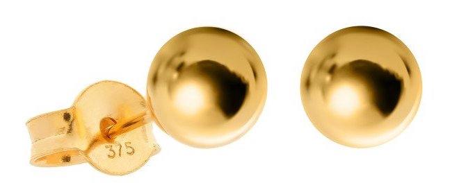 Gold earrings stamped with a 375 gold hallmark