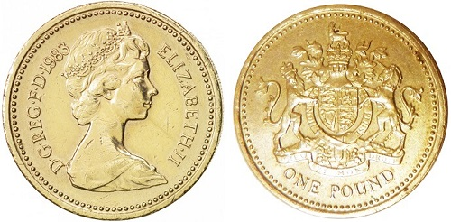 The 1983 one pound coin
