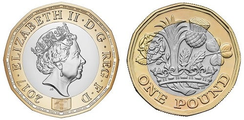 The current one pound coin