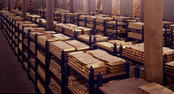 The Bank of England vault, holding the UK's gold reserves.