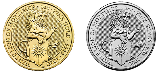 The 2020 White Lion of Mortimer, one of the new coins from the Royal Mint.
