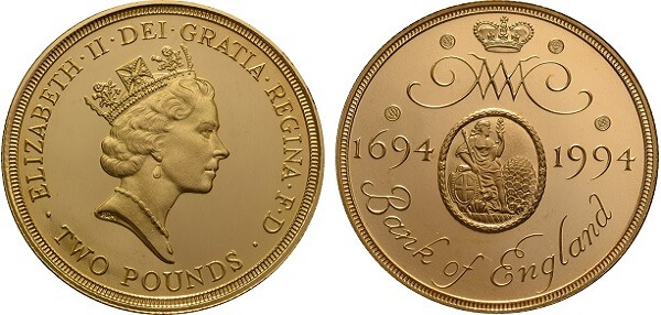 Commemorate Bank of England coin