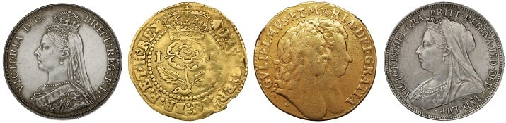 Old English coins.
