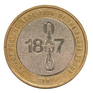 The circulating 1807 £2 coin.