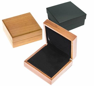 Oak coin boxes.