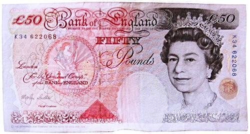 The more traditional £50 note.