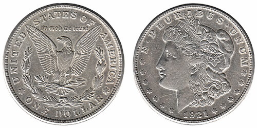 The American 'Morgan Dollar' is considered a junk silver coin.