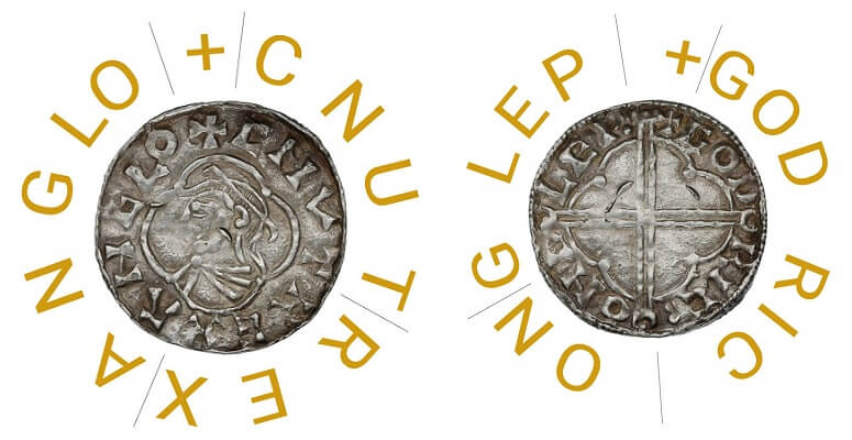 Identifying the inscription of a hammered silver coin.