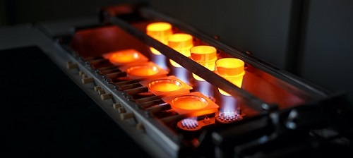 A professional machine smelting gold.