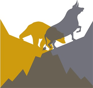 A bear gold market and bull stock market.