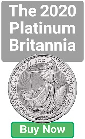 The new 2020 Platinum Britannia 1oz coin - Buy Now!