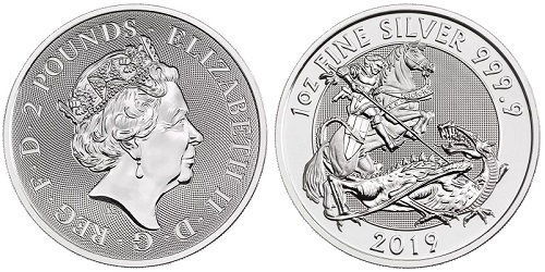 The Royal Mint Valiant coin, the closest official alternative to a silver Sovereign.