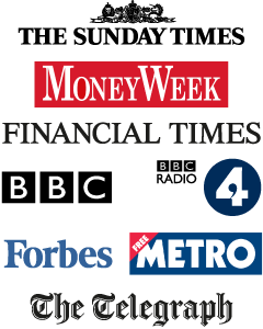 The Sunday Times, MoneyWeek, Financial Times, BBC, BBC Radio, 4